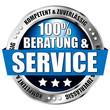 """button """"100 prozent beratung und service"""""""