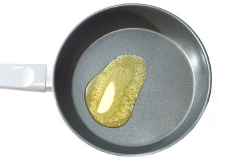 Melted butter on teflon pan
