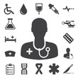 Medical icons set, . Illustration