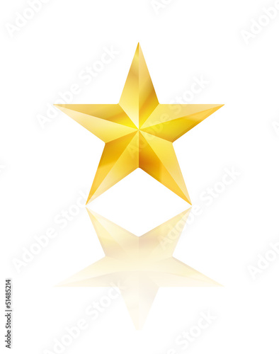 golden star on white