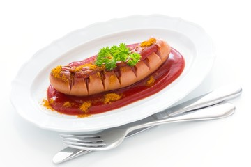 "German sausage ""Currywurst"""