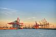 Hamburger Hafen Containerbrücken