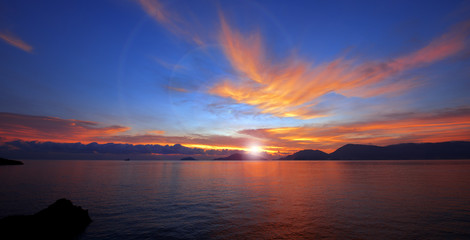 Sunset in Lerici - Liguria Italy