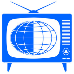 Globe in the retro TV