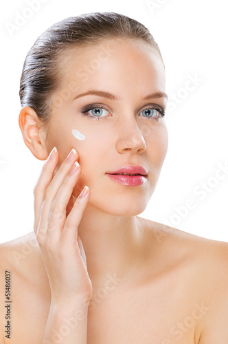 Women skin care, studio shot isolated on white