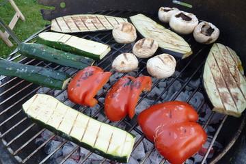 Gemüse auf dem Grill
