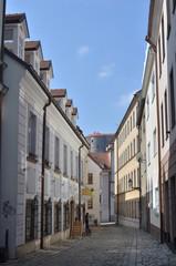 Baroque colored street in Bratislava