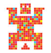 Coll pixel character illustration in vector