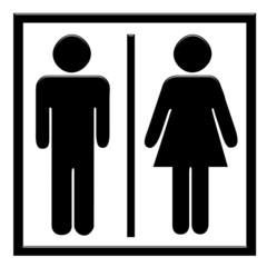 Cartello wc uomo e donna