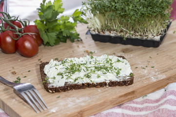 Cream Cheese and Garden Cress