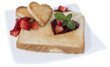 Toast with Hearts on a plate