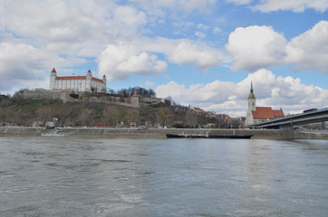 Riverside view of the Bratislava Castle