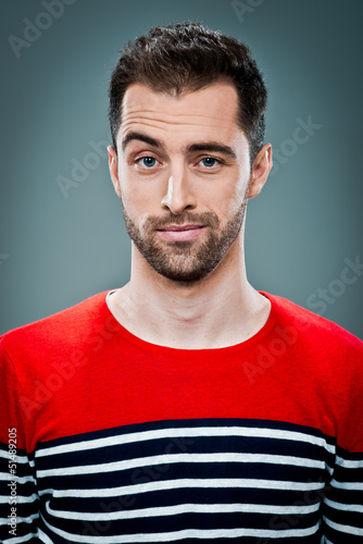 Young Man with Confused Expression