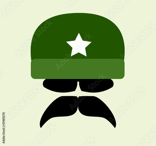 man wearing vintage army helmet