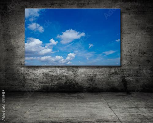 himmel auf alten wand