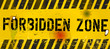 forbidden zone, warning sign, vector