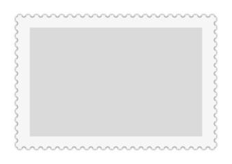 Briefmarke Vorlage lang für redaktionelle Bearbeitung