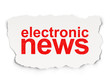 News concept: Electronic News on Paper background