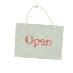 Vintage open sign. Vector