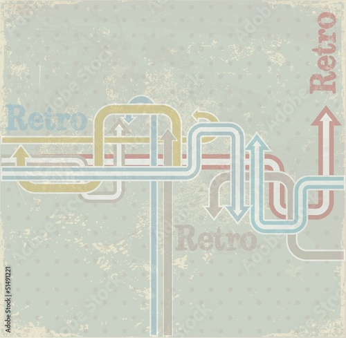 Vintage arrows background. Vector illustration