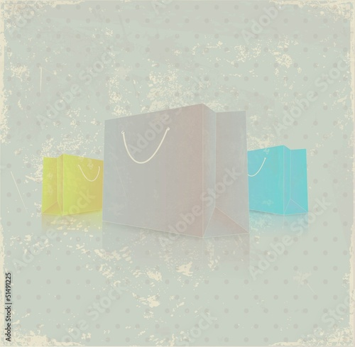 Shopping bags background