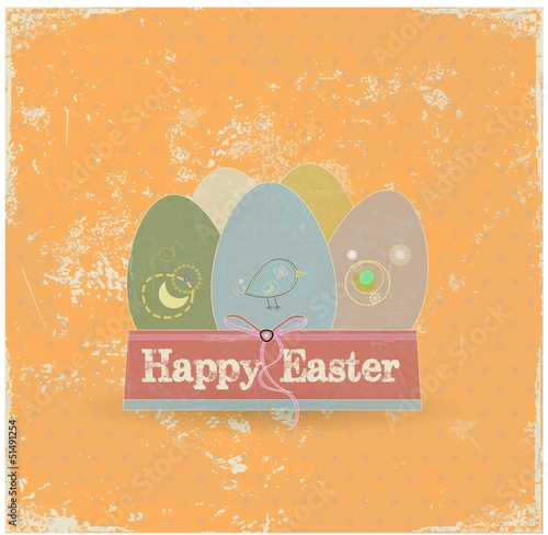 Easter eggs vector background