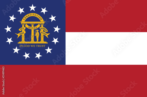 Flag of the American State of Georgia