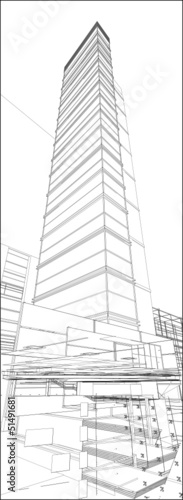 Urban Skyscraper Vector 171