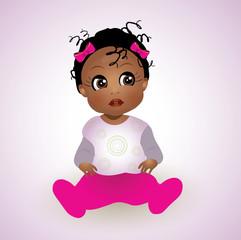 Cute African Baby Girl