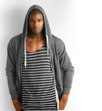 Male model against white