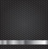 Black hexagon metal grill texture background.