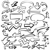 arrows set vector illustration sketch