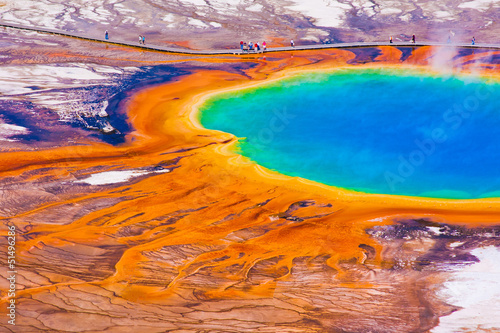 Fotobehang Natuur Park Grand Prismatic Spring in Yellowstone National Park