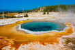 Blue Hot Spring in Yellowstone National Park,USA