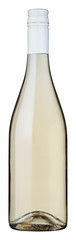white wine bottle with blank label