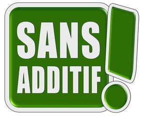 !-Schild grün quad SANS ADDITIV