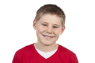 Portrait of a cute little boy smiling