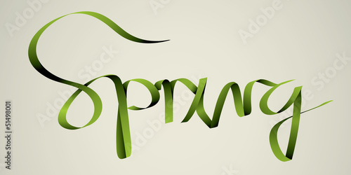 'spring' handmade calligraphy, vector EPS10