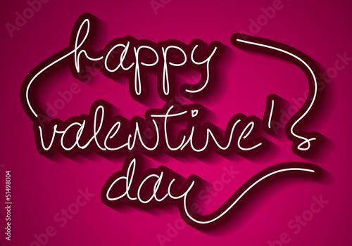 'Happy Valentine's Day' handmade calligraphy, vector EPS10