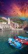 Colorful Boats In The Quaint P...