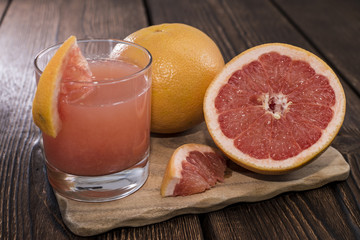 Fresh made Grapefruit Juice