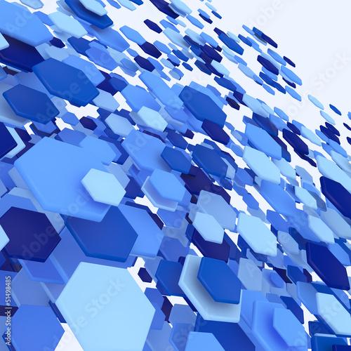 Stream of Hexagon Particles