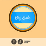 Big Sale Button - Vector Illustration - Layered Design