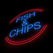 Fish and chip sign.