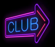 Neon Club sign.