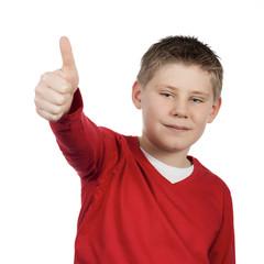 boy giving you thumb up