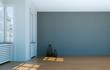 Raum mit grauer Wand