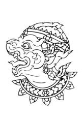 hanuman ramayana line thai