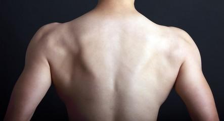 Backside of a man