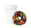 Coffee and donut to go